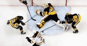Patrice Bergeron to be evaluated in two weeks. Matt Murray out with a concussion.
