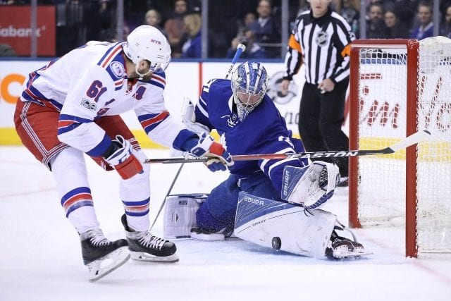 The Toronto Maple Leafs are on Rick Nash's 12-team trade list