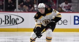 Charlie McAvoy left last night's game with a lower-body injury