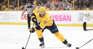 Roman Josi out with an upper-body injury