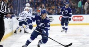 The Tampay Bay Lightning winger, Yanni Gourde, was the top NHL rookie for the month of February.