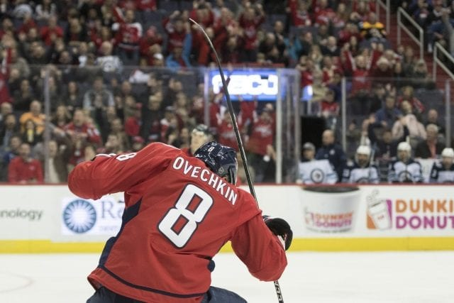 Alex Ovechkin becomes for the fourth player to score 600 goals in less than 1,000 games.