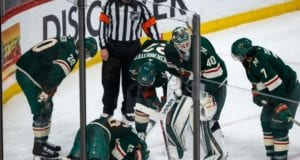 Jared Spurgeon suffered a lower-body injury