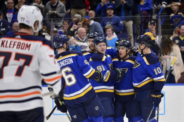 St. Louis Blues and Edmonton Oilers