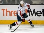 T.J. Oshie missed last night's game with a lower-body injury.