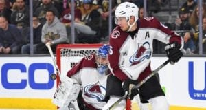 Semyon Varlamov and Erik Johnson