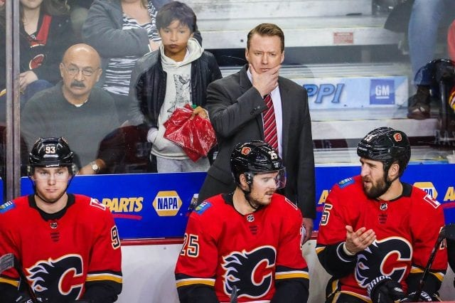 Glen Gulutzan has a year left on his contract with the Calgary Flames and isn't trying to worry about his job security just yet.