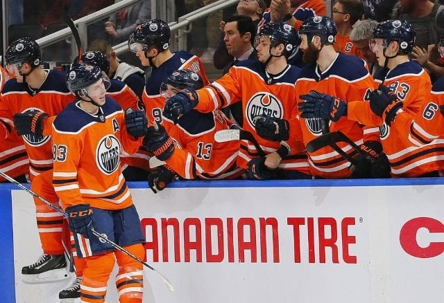 Peter Chiarelli will be back next season as the Edmonton Oilers and he doesn't plan on trading Ryan Nugent-Hopkins.