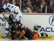 The Sharks can delay Joe Thornton's return. Does Cory Perry's interference hit warrant a look from the DoPS?
