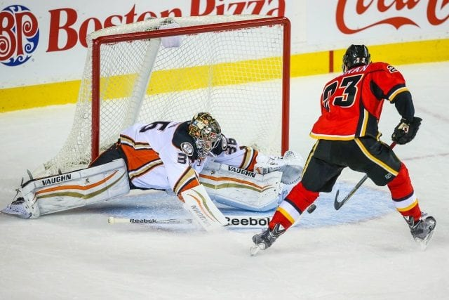Sean Monahan had four surgeries. John Gibson and Kevin Bieksa should be ready for Game 1 if they continue to progress.