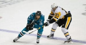 Joe Thornton won't be able to go in Game 1. Evgeny Malkin update could come today.