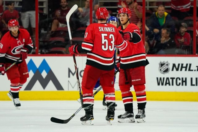 Carolina Hurricanes Jeff Skinner could be on the move, but Sebastian Aho isn't going anywhere.