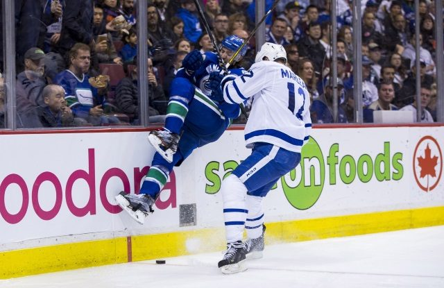 Chris Tanev comments on Toronto Maple Leafs trade rumors.