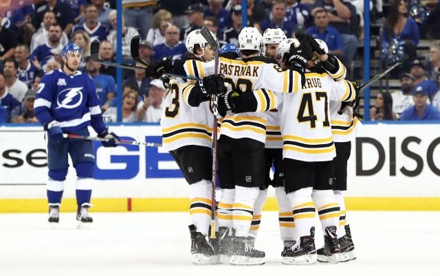 A long list of injured Boston Bruins.