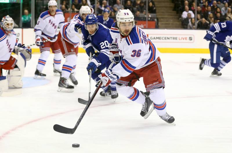 Mats Zuccarello of the New York Rangers along with Chris Kreider and Kevin Hayes could all be dealt.