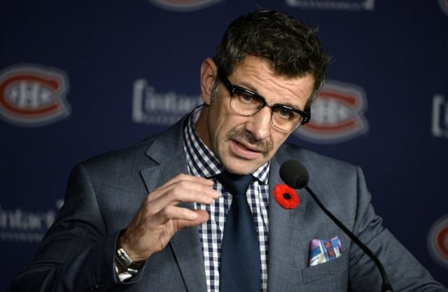 Marc Bergevin of the Montreal Canadiens