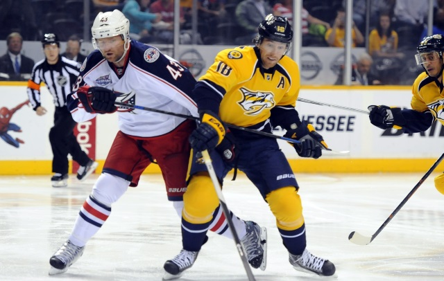 Sounded like the Nashville Predators and Columbus Blue Jackets may have been close on a Scott Hartnell trade yesterday