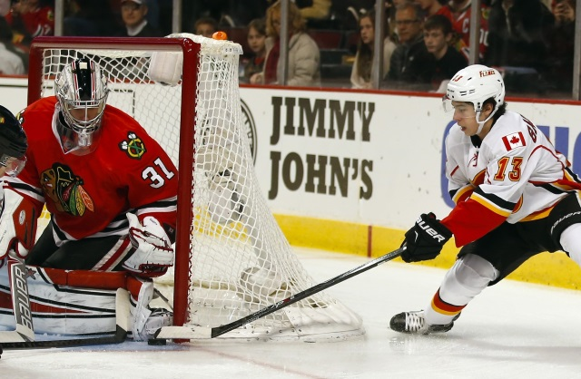 Johnny Gaudreau against the Chicago Blackhawks