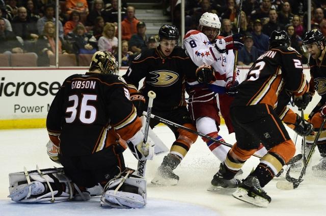 Anaheim Ducks against the Washington Capitals