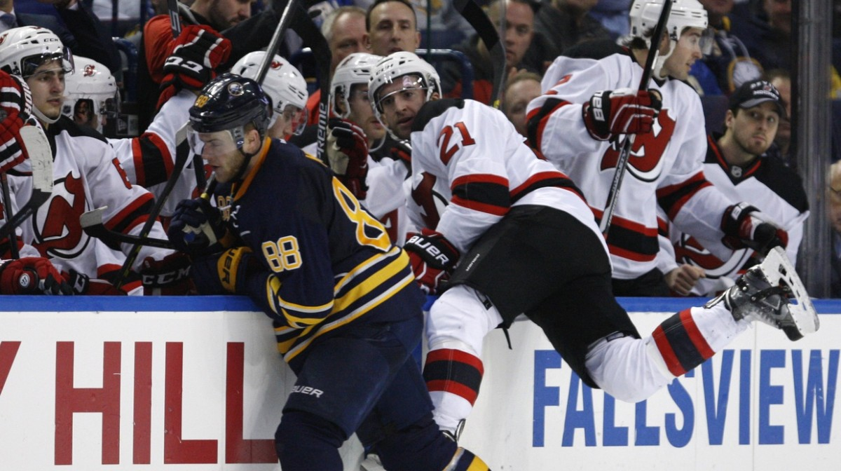Buffalo Sabres against the New Jersey Devils
