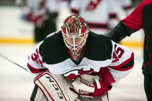 Add Cory Schneider to the list of NHL injuries as he left last night's game with a leg injury