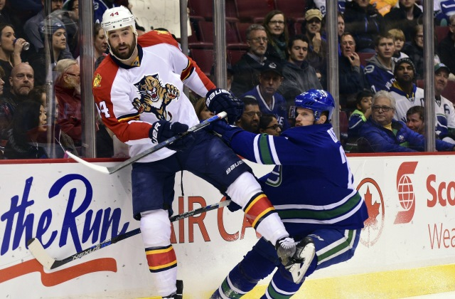 The Florida Panthers trade Erik Gudbranson to the Vancouver Canucks