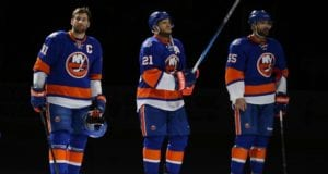 John Tavares and Kyle Okposo