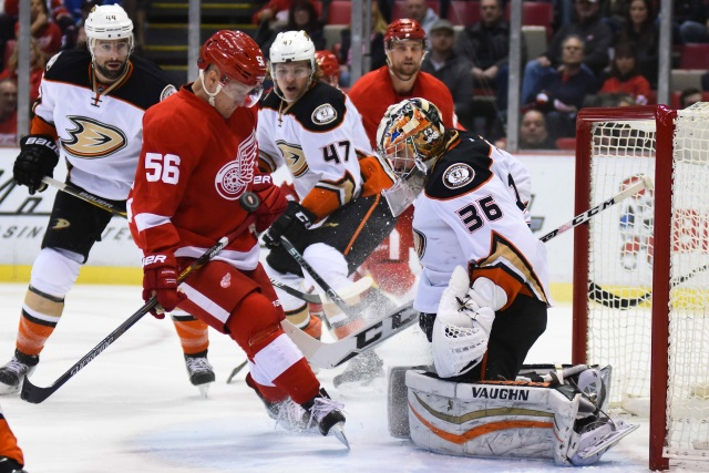 Detroit Red Wings and Anaheim Ducks