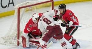 Tobias Rieder against the Ottawa Senators