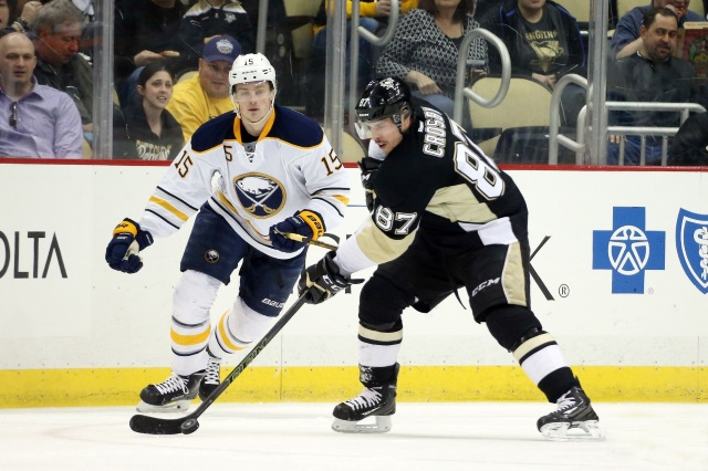 Sidney Crosby wants to retire a Penguin. The Pens could use help on the fourth-line. Mike Zibanejad issues and a center from Buffalo.
