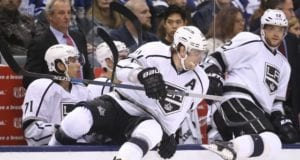Anze Kopitar and Marian Gaborik of the Los Angeles Kings