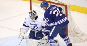 Ben Bishop and James van Riemsdyk