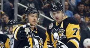 The Pittsburgh Penguins are still without Evgeni Malkin and Carl Hagelin