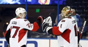 Mike Condon and Curtis Lazar
