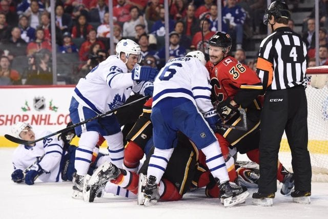 Toronto Maple Leafs and the Calgary Flames