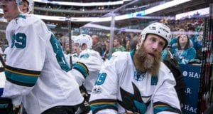 Joe Thornton of the San Jose Sharks