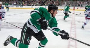 Cody Eakin of the Dallas Stars against the New York Rangers