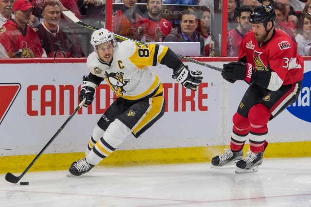 Marc Methot and Sidney Crosby