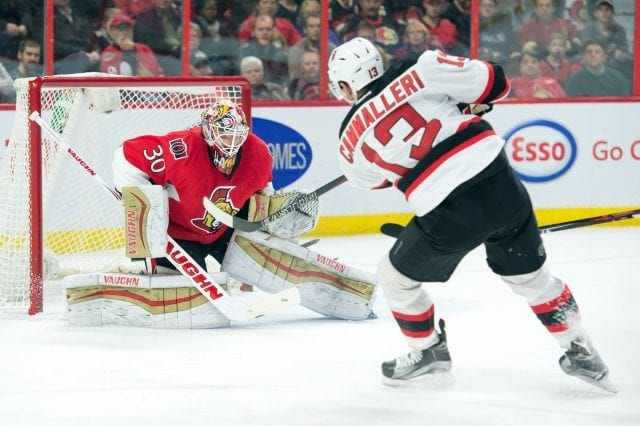The New Jersey Devils put Mike Cammalleri on waivers for purpose of buying him out