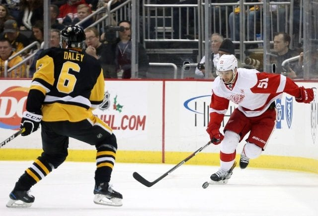 Trevor Daley appears to be the Detroit Red Wings top free agent priority