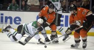 Cam Fowler and Sami Vatanen of the Anaheim Ducks