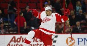 Detroit Red Wings forward Andreas Athanasiou