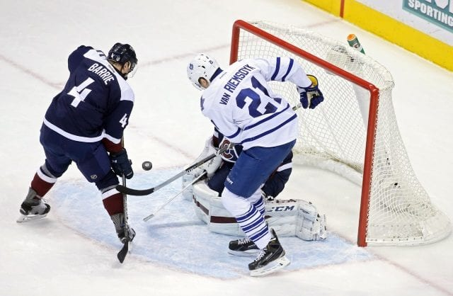 The Toronto Maple Leafs have some interest in Tyson Barrie. Maple Leafs could be willing to move James van Riemsdyk
