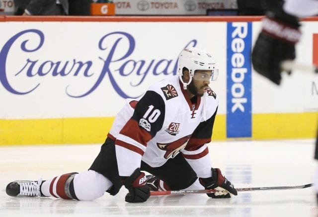 Anthony Duclair of the Arizona Coyotes