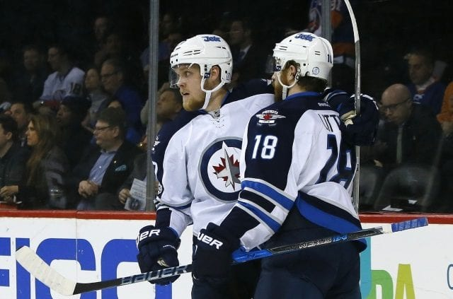 Winnipeg Jets Bryan Little and Nikolaj Elhers