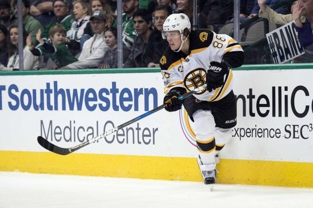 """Boston Bruins GM Don Sweeney said """"We're in a holding pattern"""" with regards to a new contract for restricted free agent winger David Pastrnak"""