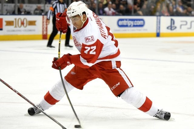 The Detroit Red Wings and RFA Andreas Athanasiou exchange offers