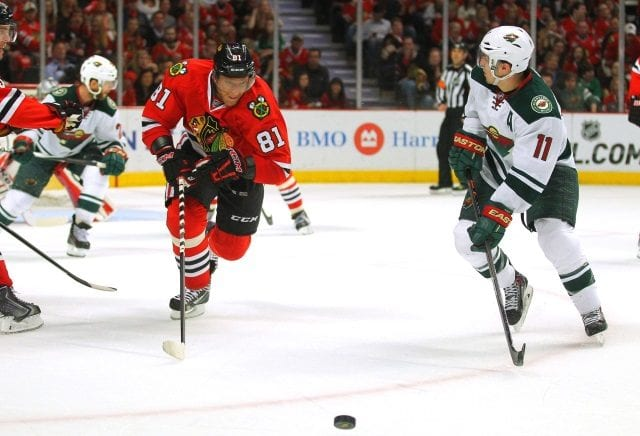 The NHL to investigate Marian Hossa and Joffrey Lupul's 'injuries' ... Zach Parise finally able to join teammates