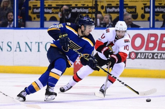 St. Louis Blues forward Robby Fabbri is done for the season