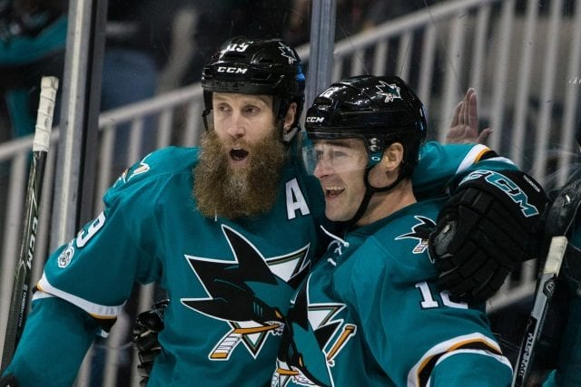 Joe Thornton and Patrick Marleau talked about playing for the Toronto Maple Leafs